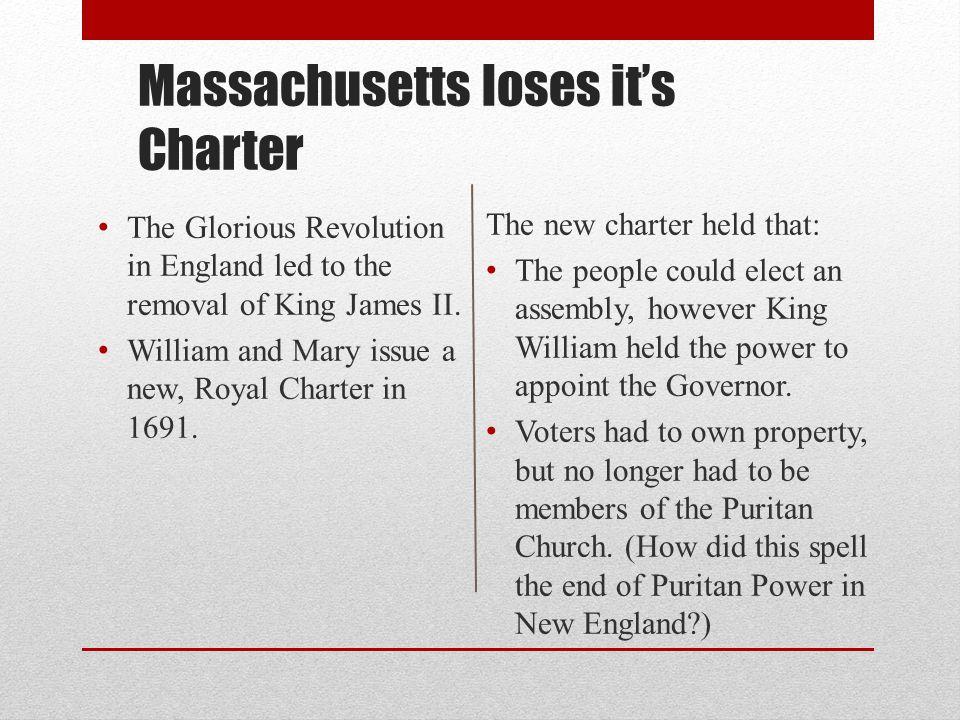 Massachusetts loses it's Charter