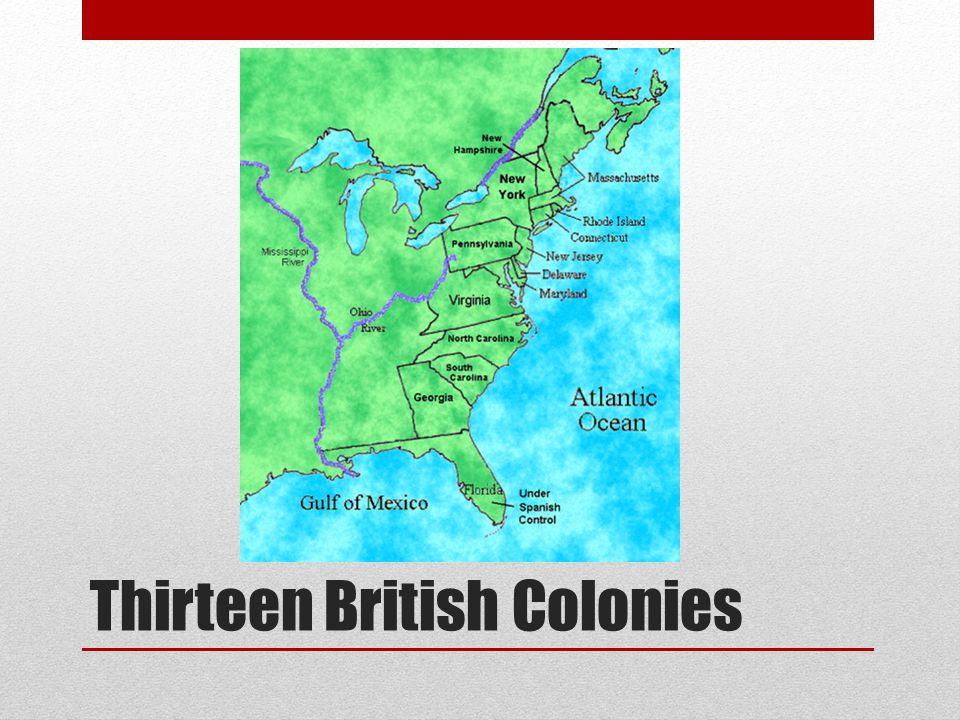 Thirteen British Colonies