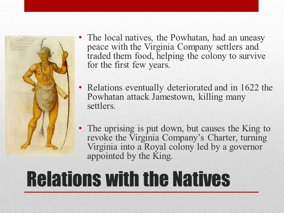Relations with the Natives