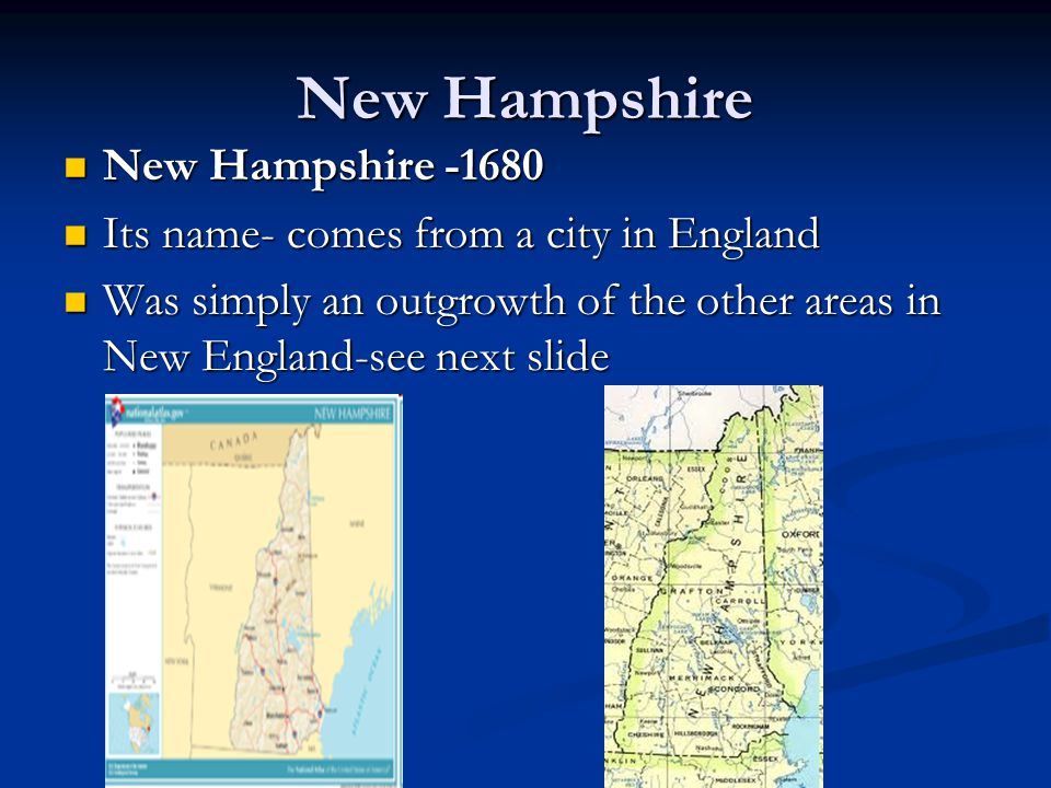 New Hampshire New Hampshire -1680