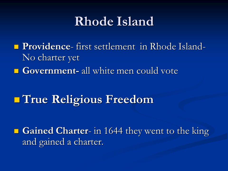 Rhode Island True Religious Freedom