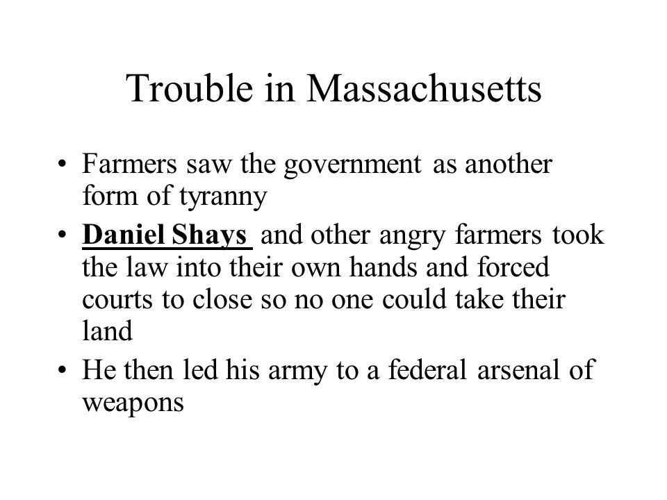 Trouble in Massachusetts
