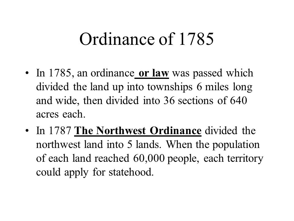 Ordinance of 1785