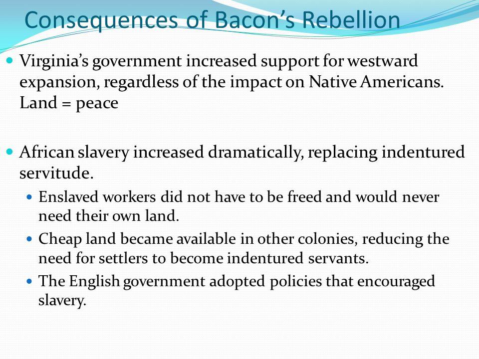 Consequences of Bacon's Rebellion