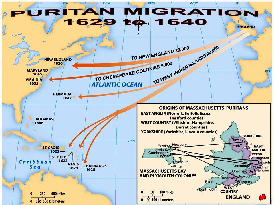 PURITAN MIGRATION 1629 to 1640