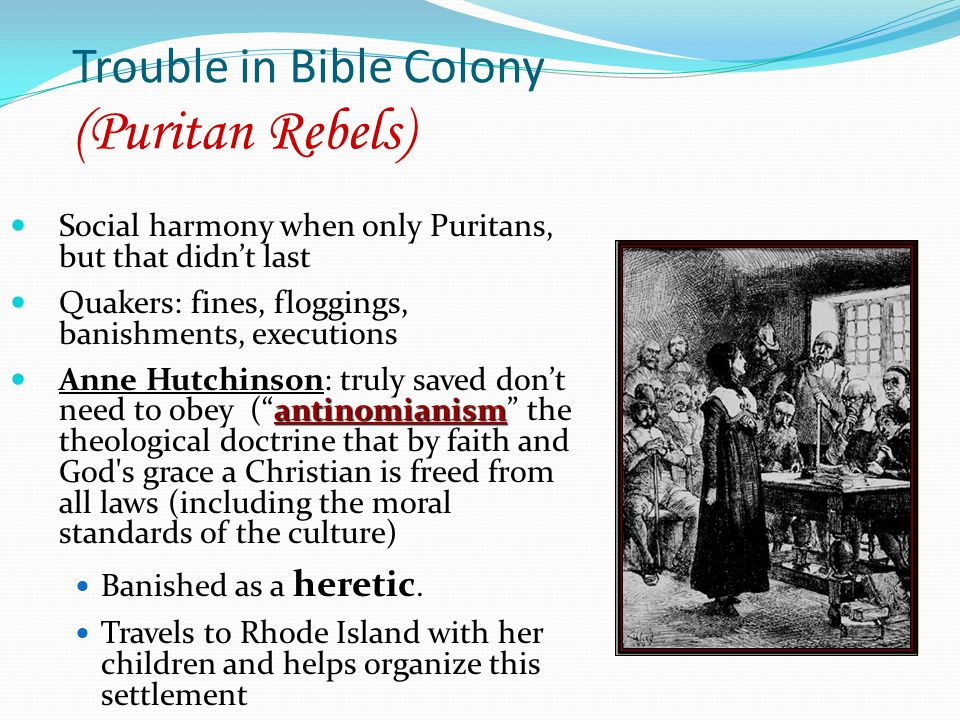 Trouble in Bible Colony (Puritan Rebels)