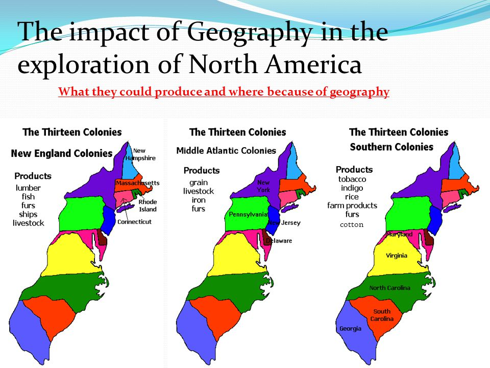 The impact of Geography in the exploration of North America