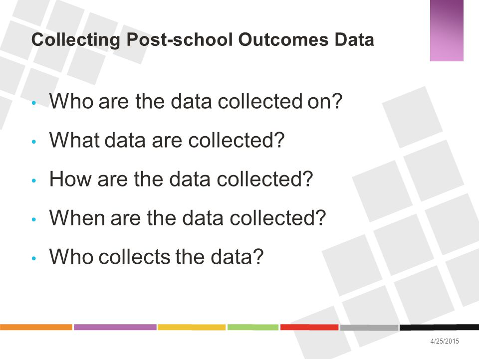 Collecting Post-school Outcomes Data