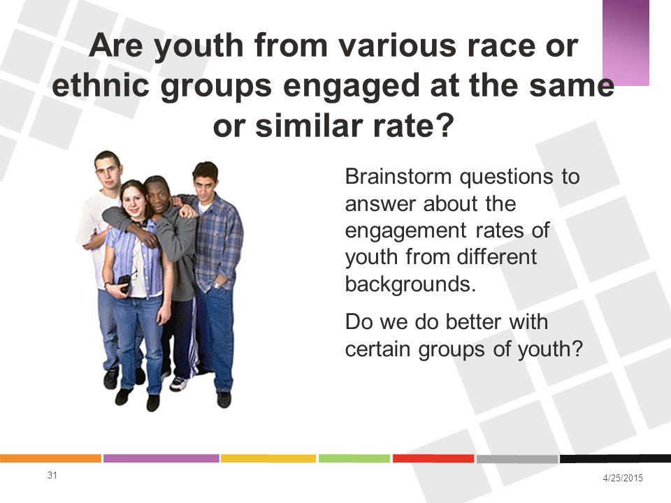 Are youth from various race or ethnic groups engaged at the same or similar rate