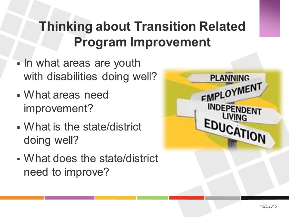 Thinking about Transition Related Program Improvement