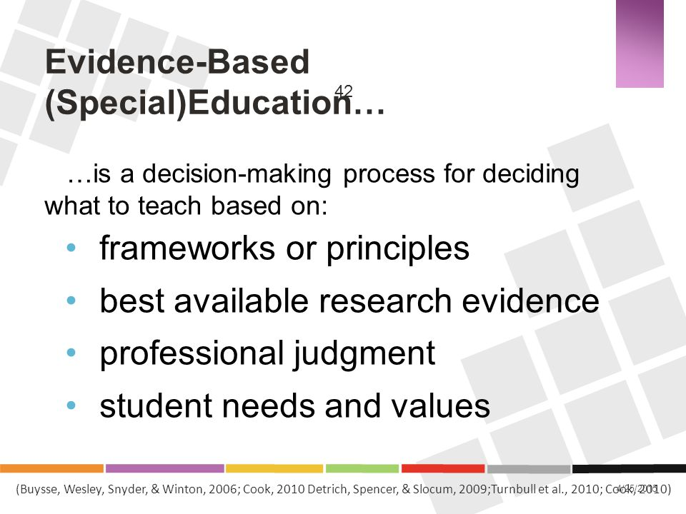 Evidence-Based (Special)Education…