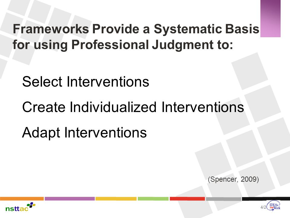 Create Individualized Interventions Adapt Interventions