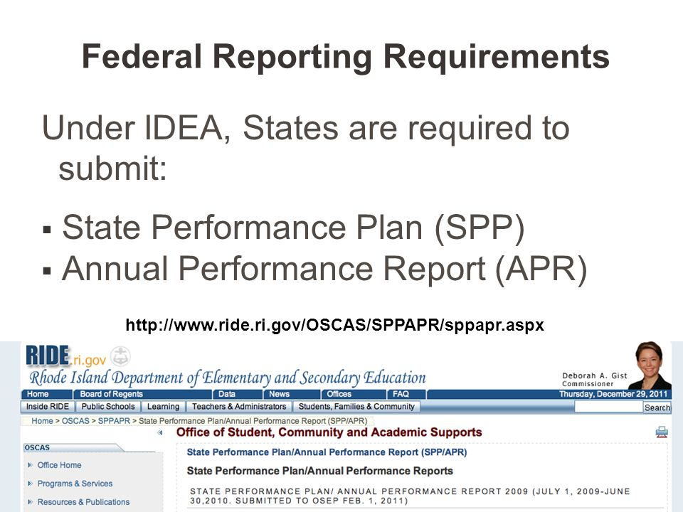 Federal Reporting Requirements