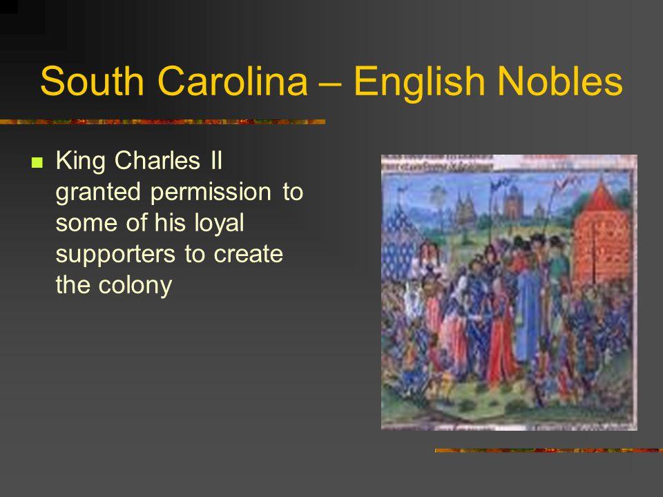 South Carolina – English Nobles