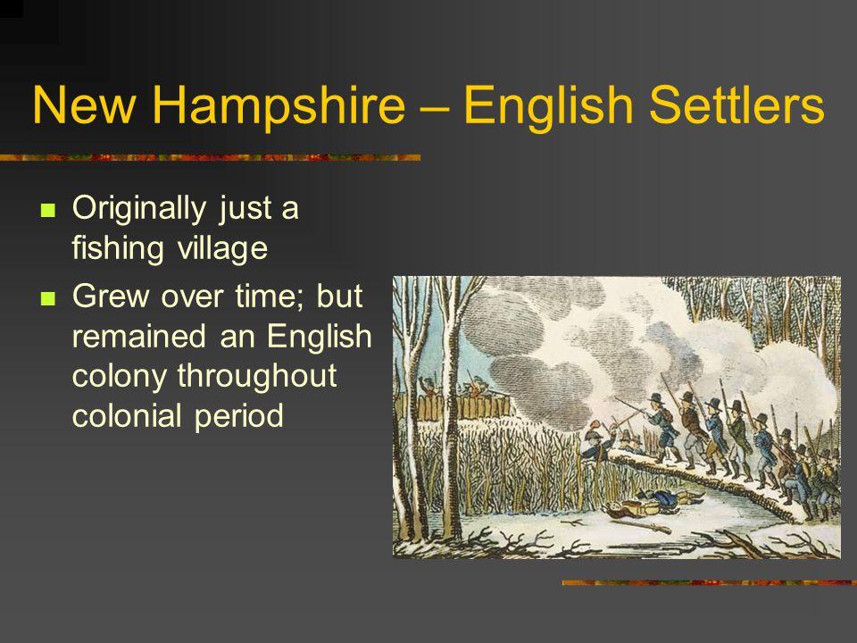 New Hampshire – English Settlers