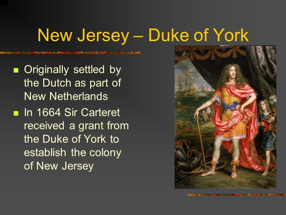 New Jersey – Duke of York
