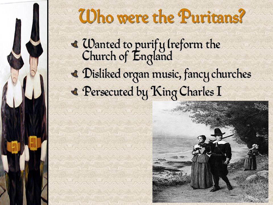 Who were the Puritans Wanted to purify (reform the Church of England