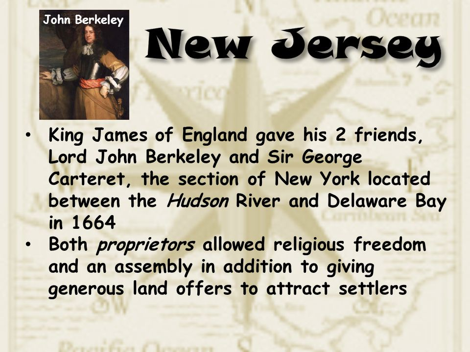 John Berkeley New Jersey.