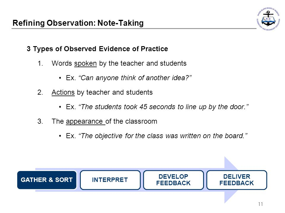 Refining Observation: Note-Taking