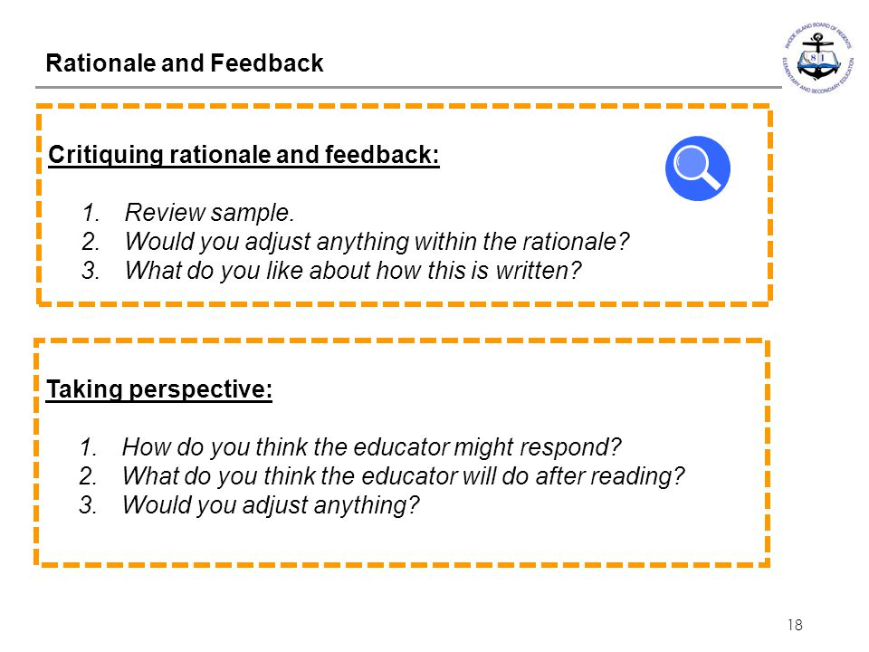 Rationale and Feedback