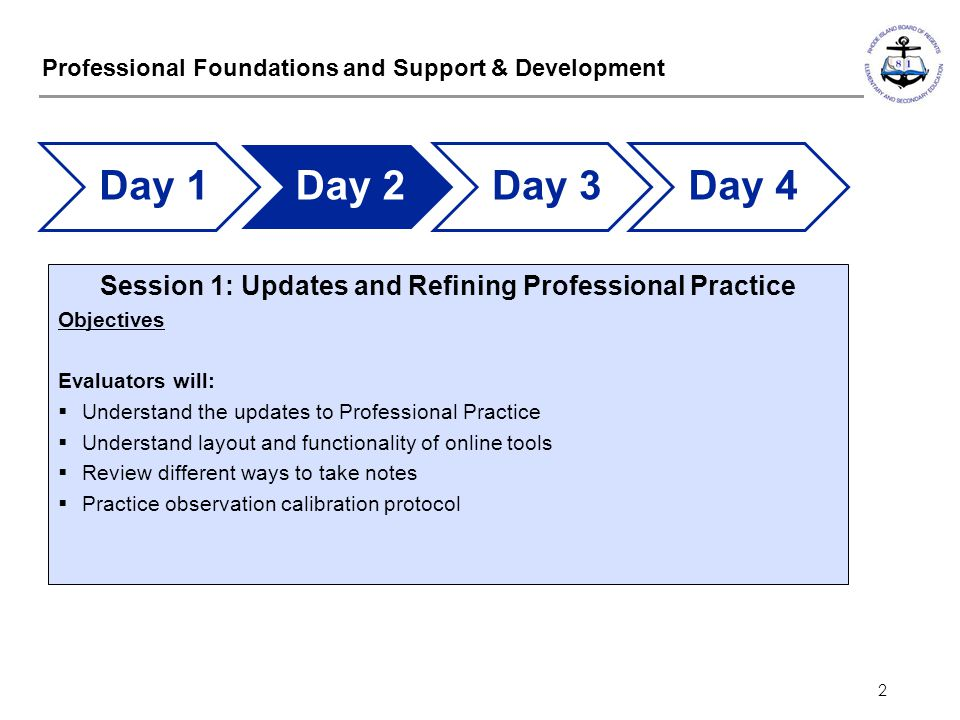 Professional Foundations and Support & Development