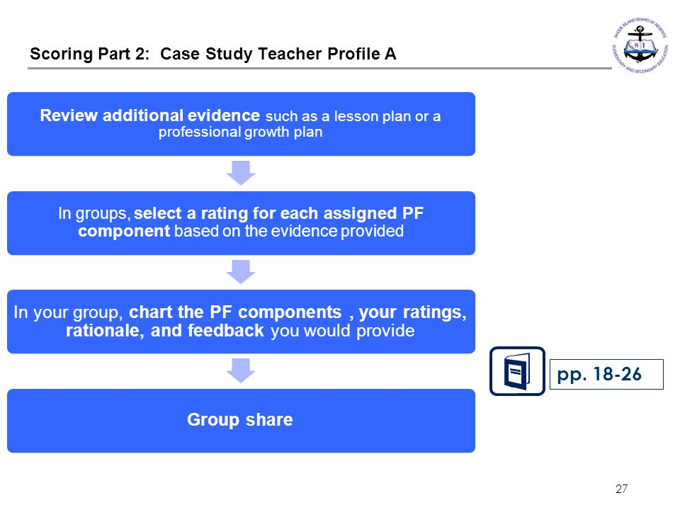 Scoring Part 2: Case Study Teacher Profile A