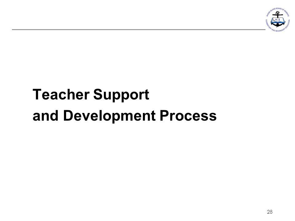 Teacher Support and Development Process