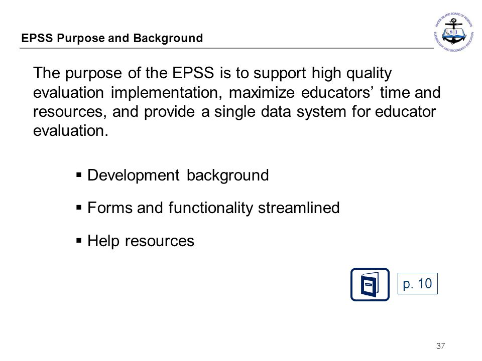 EPSS Purpose and Background