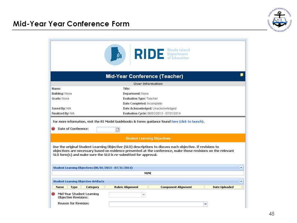 Mid-Year Year Conference Form