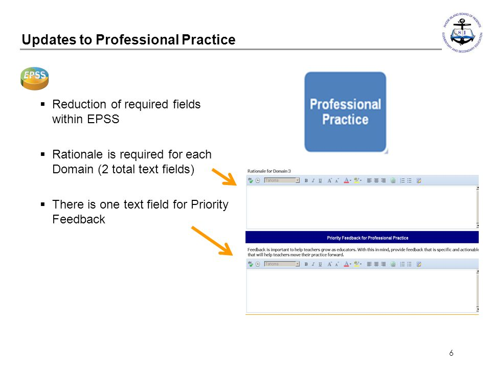 Updates to Professional Practice
