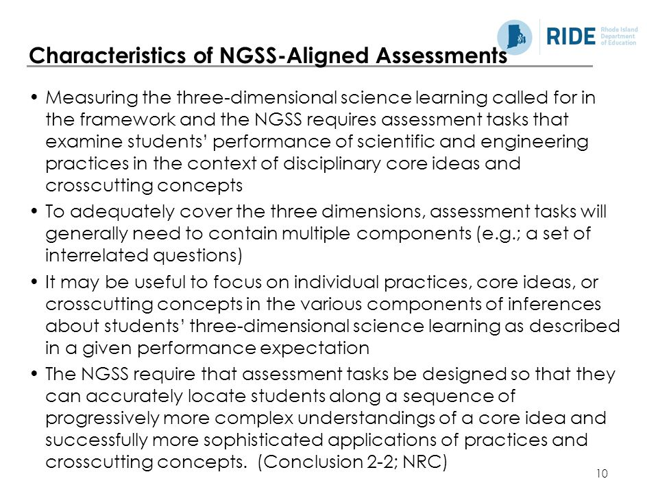 Characteristics of NGSS-Aligned Assessments