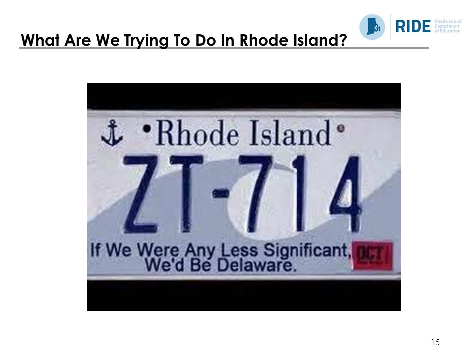 What Are We Trying To Do In Rhode Island