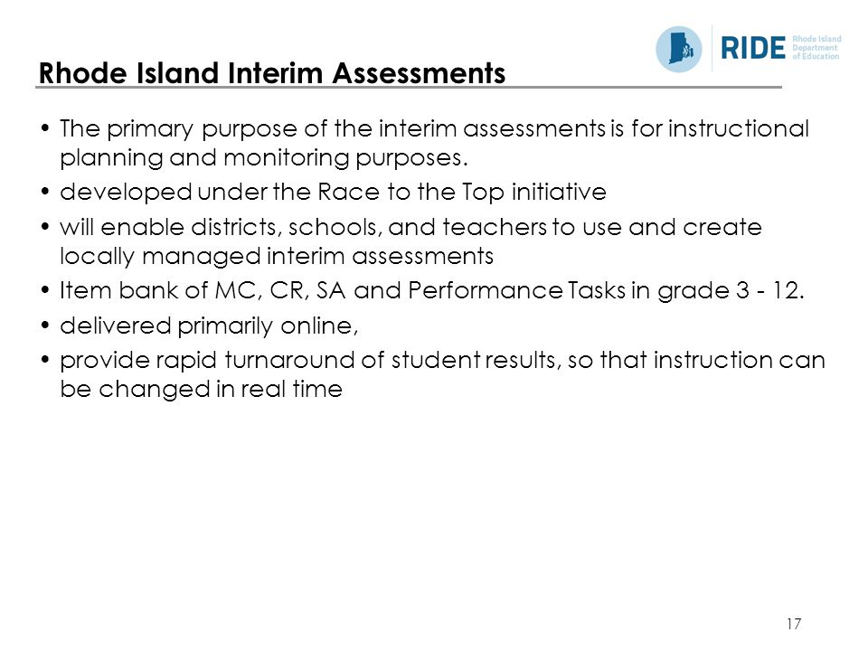Rhode Island Interim Assessments