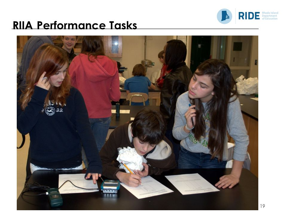 RIIA Performance Tasks