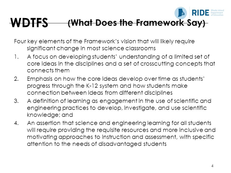 WDTFS (What Does the Framework Say)