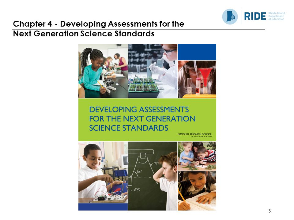Chapter 4 - Developing Assessments for the Next Generation Science Standards