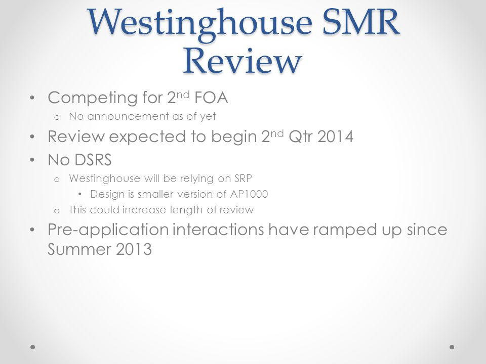 Westinghouse SMR Review