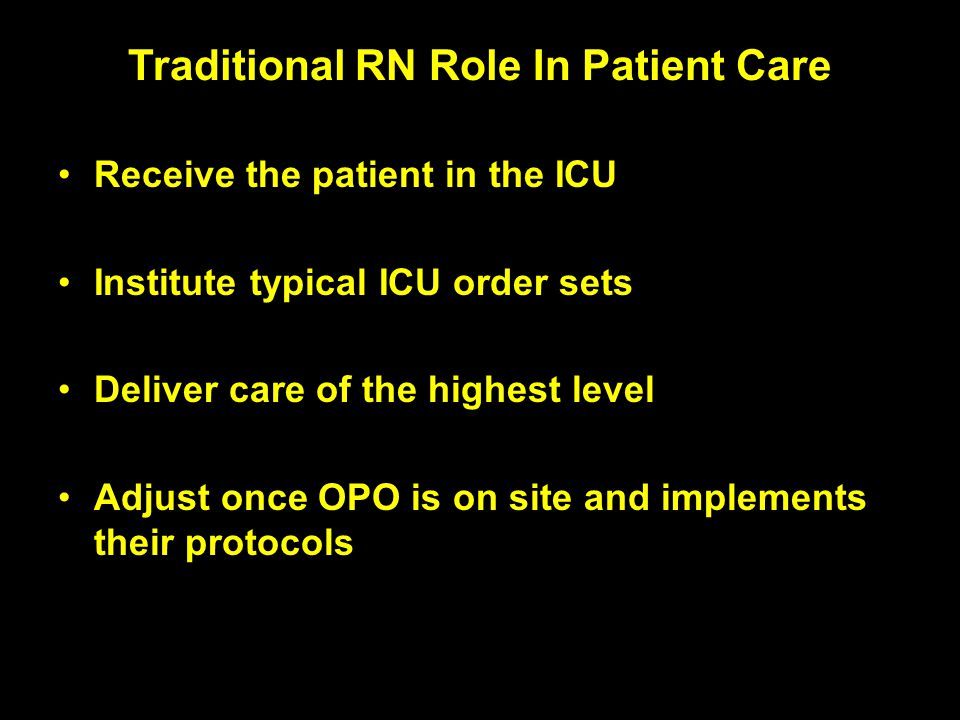 Traditional RN Role In Patient Care
