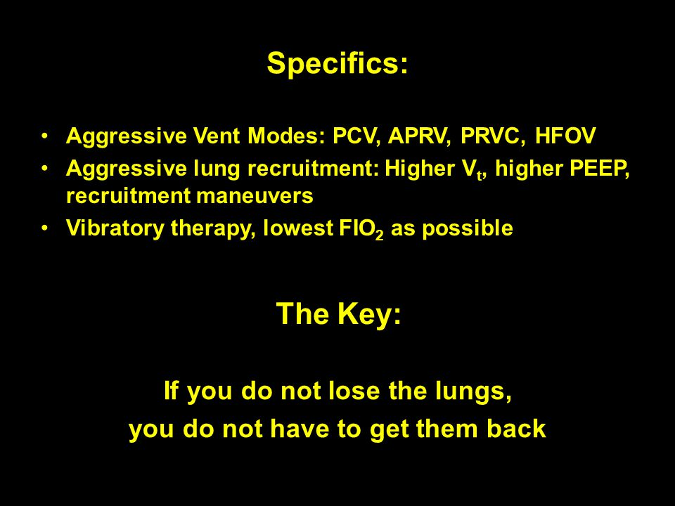 If you do not lose the lungs, you do not have to get them back