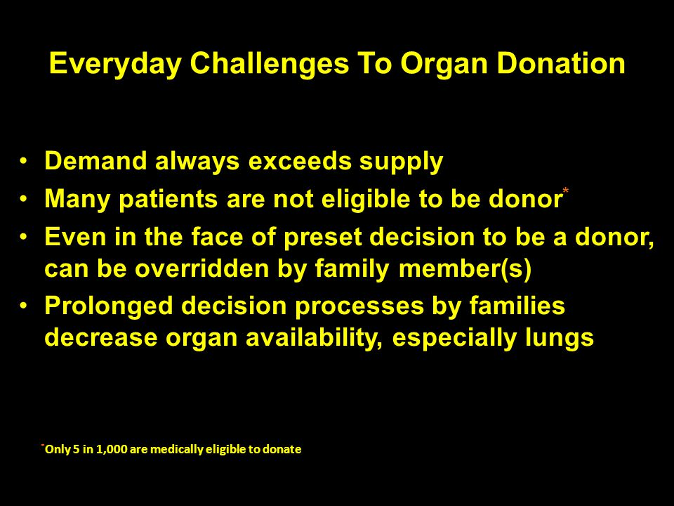 Everyday Challenges To Organ Donation