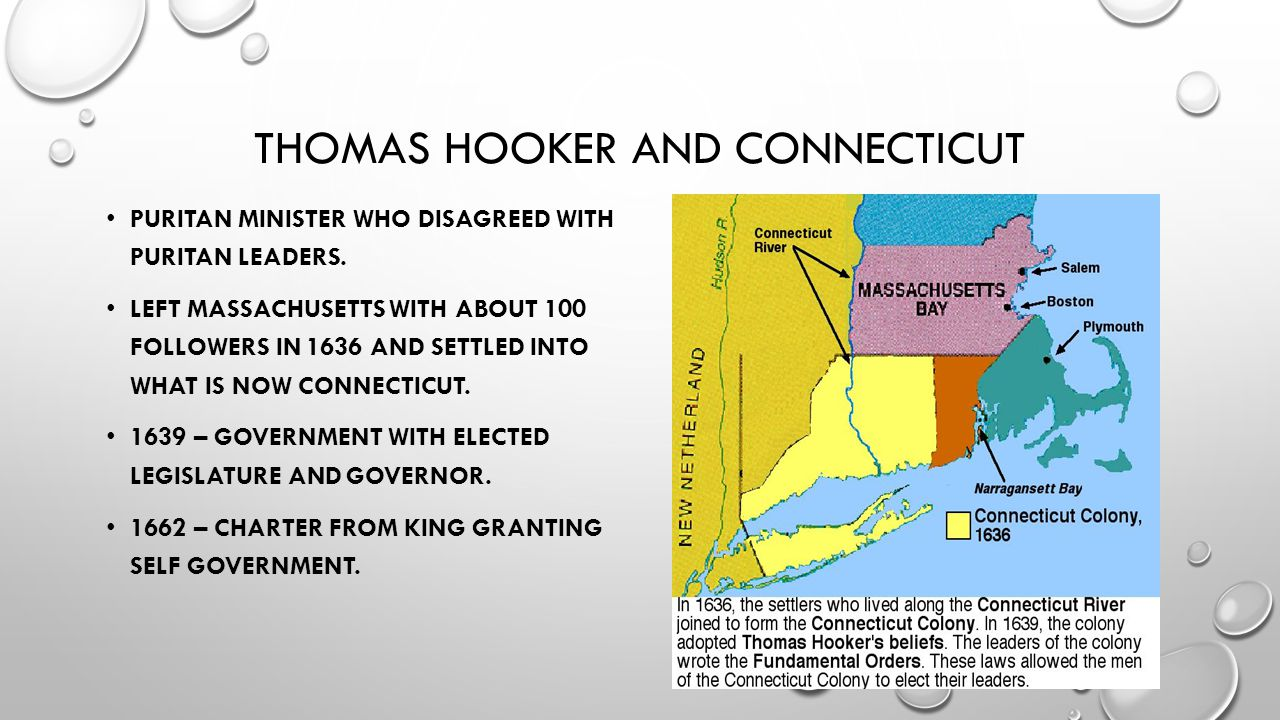 Thomas hooker and Connecticut