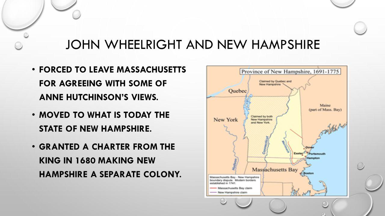John wheelright and new hampshire