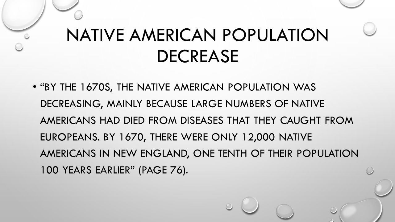 Native American population decrease