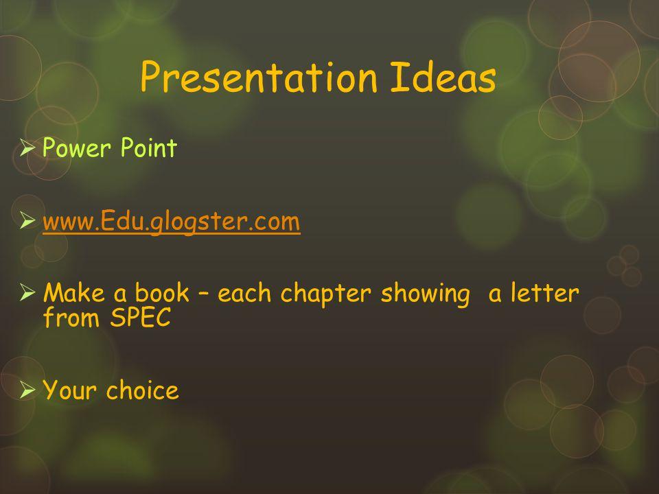 Presentation Ideas Power Point www.Edu.glogster.com