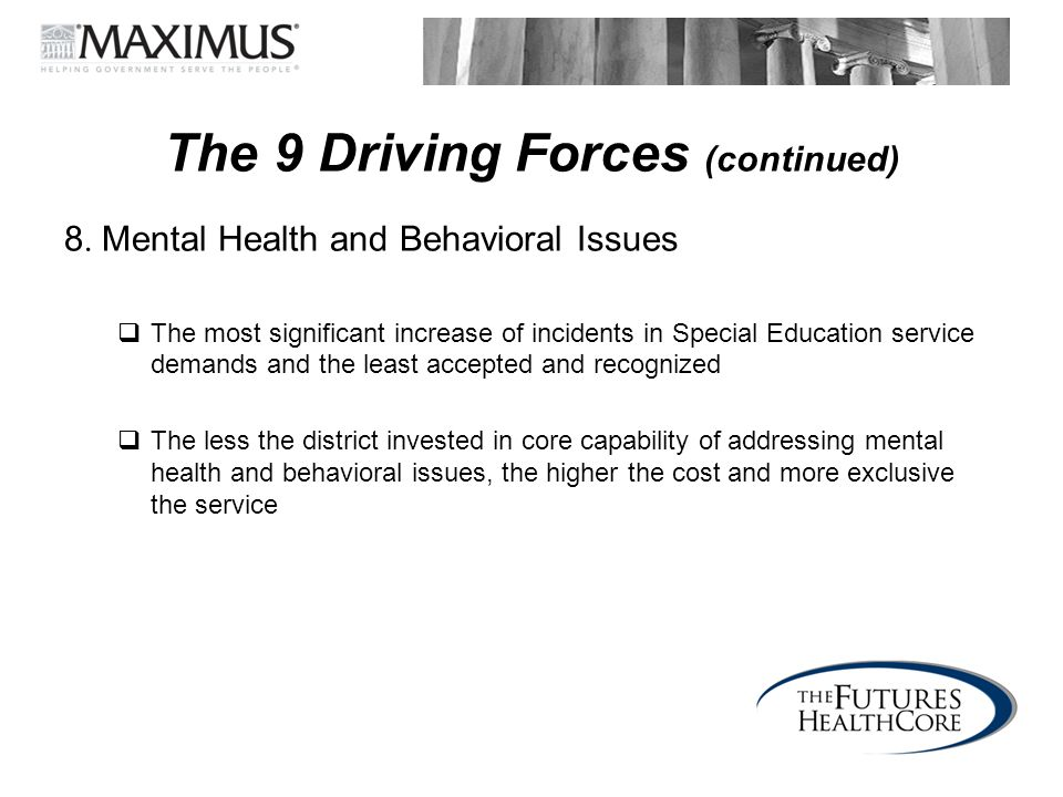 The 9 Driving Forces (continued)