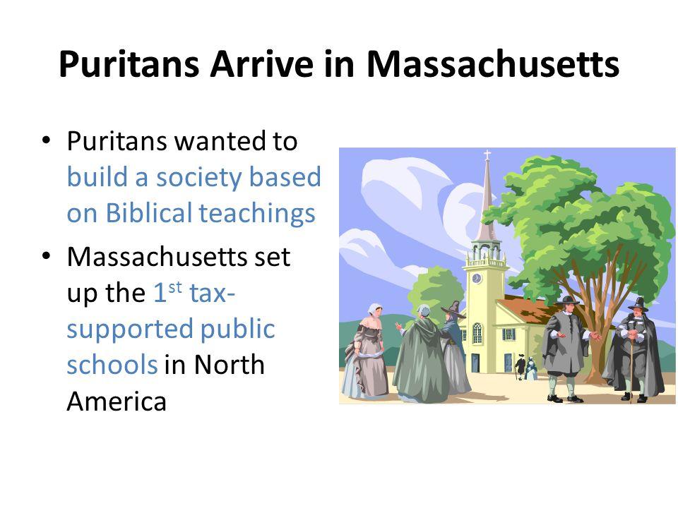 Puritans Arrive in Massachusetts