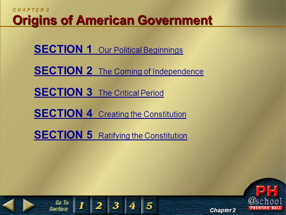 C H A P T E R 2 Origins of American Government
