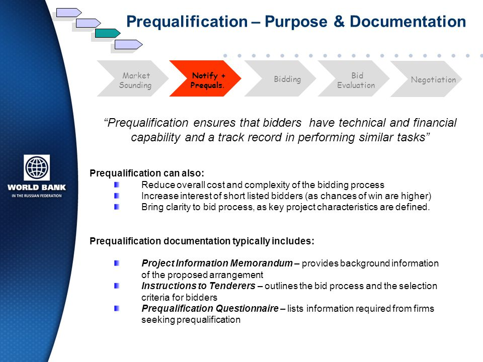 Prequalification – Purpose & Documentation