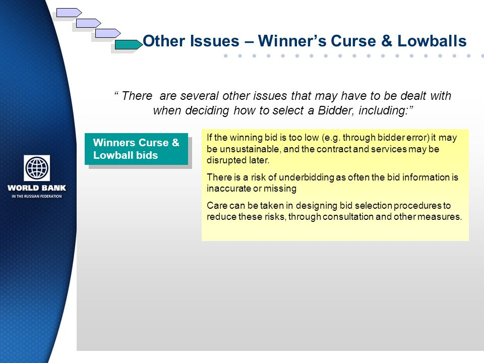 Other Issues – Winner's Curse & Lowballs