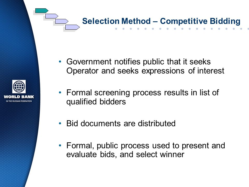 Selection Method – Competitive Bidding